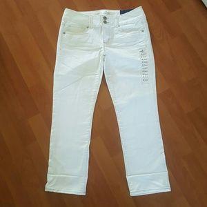 American Eagle Artist Crop Slim cuff leg jeans 4